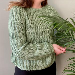 Lyse Sweater av Rito Krea - Genser Hekleoppskrift Str. XS-XXL