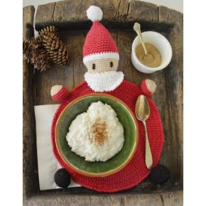 Brunch with Santa by DROPS Design - Bordbrikke Hekleoppskrift 22 cm