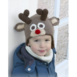 Little Rudolph by DROPS Design - Lue Hekleoppskrift str. 6 mdr - 10 år