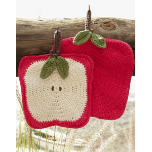 Sweet Apples by DROPS Design - Grytelapper Hekleoppskrift