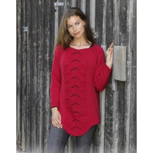 Red Tulipby DROPS Design - Bluse Strikkeoppskrift str. S - XXXL