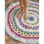 Color Wheel by DROPS Design - Gulvteppe Hekleoppskrift 94 cm