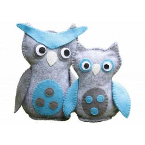 Go Handmade Sykit Uglene Eddie og Carlo 17 cm og 13 cm