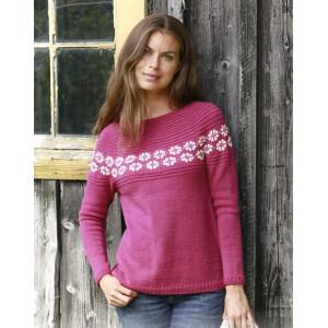 Daisy Delightby DROPS Design - Bluse Strikkeoppskrift str. S - XXXL