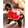 Santa Dog by DROPS Design - Genser til hund Strikkeoppskrift str. XS - M