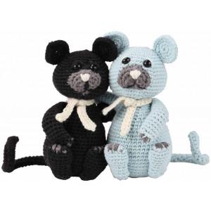 Go Handmade Heklekit Kattene Burt & Bart 13 cm og 13 cm