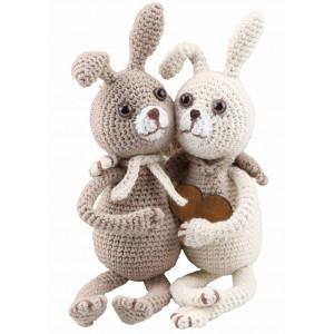 Go Handmade Heklekit Kaninene Lilly & Tim 22 cm og 22 cm