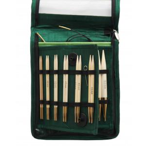 KnitPro Bamboo Utskiftbare rundpinnesett Bambus 60-80-100 cm 3-10 mm 10 størrelser Deluxe