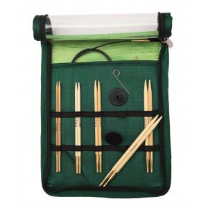 KnitPro Bamboo Utskiftbare rundpinnesett Bambus 60-80-100 cm 3-5 mm 5 størrelser Startsett