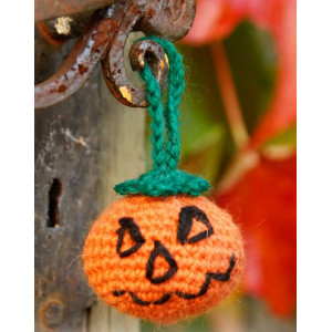 Jack by DROPS Design - Halloween Gresskar Hekleoppskrift 5cm