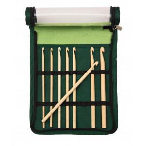 KnitPro Bamboo Heklenålsett Bambus 15,3 cm 3,5-8 mm 8 størrelser
