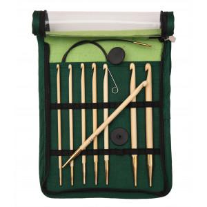 KnitPro Bamboo Heklenålsett Bambus 60-80-100 cm 3,5-8 mm 8 størrelser til Tunisisk hekling / Hakking