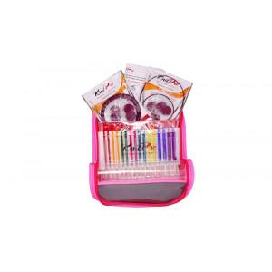 KnitPro Trendz Utskiftbare rundpinnesett Akryl 60-80-100 cm 3,5-8 mm 8 størrelser Deluxe