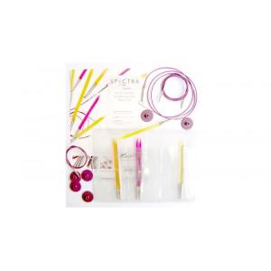 KnitPro Trendz Utskiftbare rundpindesett Akryl 60-80-100 cm 4-6 mm 3 størrelser Startsett