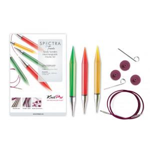 KnitPro Trendz Utskiftbare rundpinnesett Akryl 60-80-100 cm 9-12 mm 3 størrelser Chunky