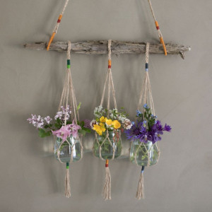 DIY Hanging pots av Rito Krea - Hengevaser Knyteoppskrift