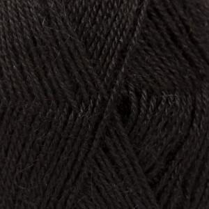 Drops Alpaca Garn Unicolor 8903 Sort