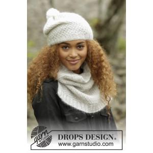 Cream Puff by DROPS Design - Lue og Hals Strikkeoppskrift str. S/M - M/L