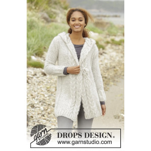 Melody of Snow by DROPS Design - Jakke Strikkeoppskrift str. XS - XXXL