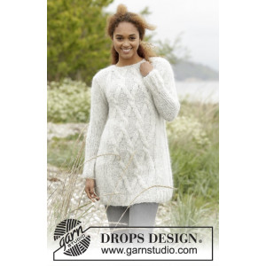 Diamond Bliss by DROPS Design - Genser Strikkeopskrift str. XS/S - XXXL