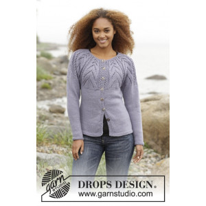Magic Web Cardigan by DROPS Design - Jakke Strikkeopskrift str. S - XXXL