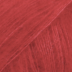 Drops Kid-Silk Garn Unicolor 14 Rød