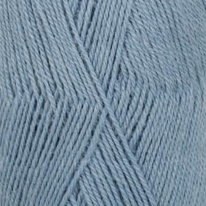 Drops Flora Garn Unicolor 13 Jeansblå