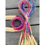 Infinity Hearts Rundpinnesett Bambus Natur/Print 80cm 2-10mm - 18 størrelser