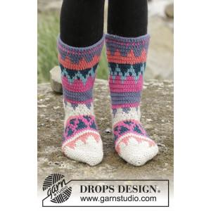 Colorful Winter by DROPS Design - Sokker Hekleoppskrift str. 35 - 43