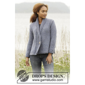 Winter Hues by DROPS Design - Jakke Strikkeopskrift str. S - XXXL