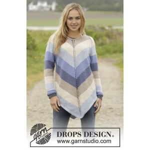Ocean Stripes by DROPS Design - Tunika Strikkeoppskrift str. S - XXXL