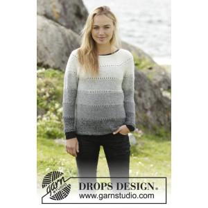 Shades of Grey by DROPS Design - Genser Strikkeoppskrift str. S - XXXL