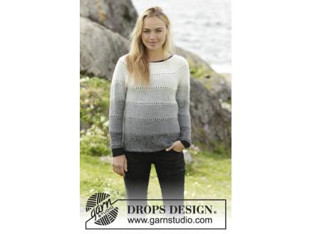 8f5c0351 Shades of Grey by DROPS Design - Genser Strikkeopskrift str. S - XXXL