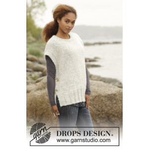 Winter is Coming by DROPS Design - Vest Strikkeoppskrift str. S - XXXL