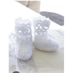 So Charming Socks by DROPS Design - Babytøfler Hekleoppskrift str. 15/17 - 22/23