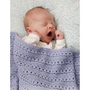 Sleepyhead by DROPS Design - Babyteppe Hekleoppskrift 66-80 cm