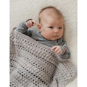 Big Dreamsby DROPS Design - Baby Teppe Hekleoppskrift 66-80 cm