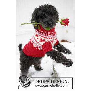 Valentino by DROPS Design - Hundegenser Strikkeoppskrift str. XS - L