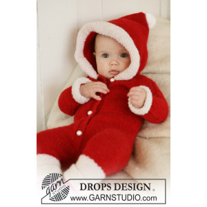 My First Christmas by DROPS Design - Baby Juledrakt Strikkeoppskrift str. 1 mdr - 4 år