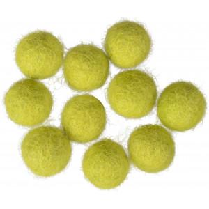 Ullkuler/Filtkuler 10mm Lys Grønn GN3 - 10 stk