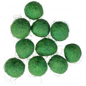 Ullkuler/Filtkuler 10mm Mørk Grønn GN10 - 10 stk