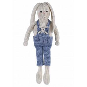 Go Handmade Strikkekit Kaninene Lukas 33 cm & Buddy 5 cm