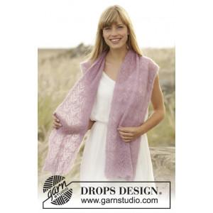 Spring Blush by DROPS Design - Sjal Strikkeoppskrift 168x30 cm