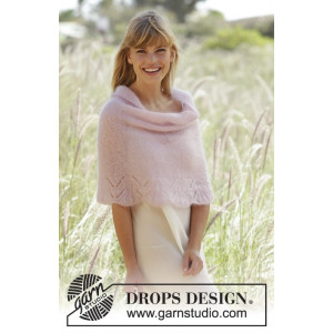 Candyfloss by DROPS Design - Poncho Strikkeoppskrift str. S - XXXL