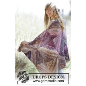 Purple Love by DROPS Design - Teppe Strikkeopskrift 150x90 cm