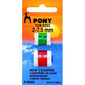 Pony Omgangsteller / Pinneteller 2-7,5mm - 2 stk