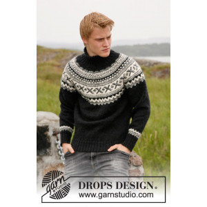 Neville by DROPS Design - Genser Strikkeopskrift str. S - XXXL