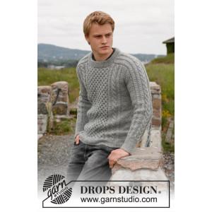 Dreams of Aran by DROPS Design - Jakke Strikkeoppskrift str. 13/14 år og S - XXXL