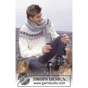 Prince of Snow by DROPS Design - Genser og Skjerf Strikkeoppskrift str. 12/14 år og S/M - XXL
