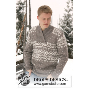 Simon by DROPS Design - Genser Strikkeopskrift str. XS/S - XXXL